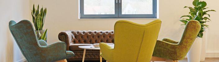 Für gute Gespräche. Die Lounge im #projektraum42.