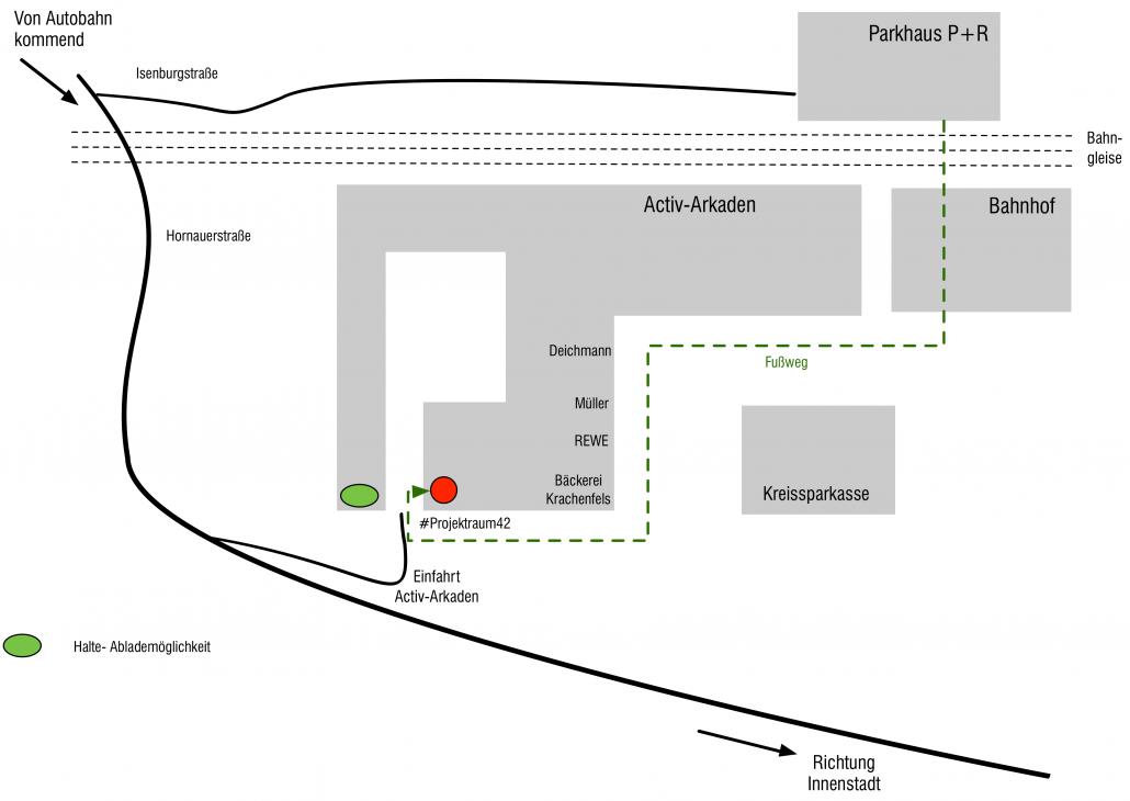 Projektmensch - Lageplan